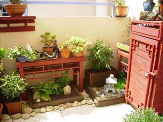 Installer un jardin japonais et min ral sur son balcon jardiner en ville - Petit jardin balcon ...